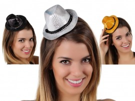 Mini Sombrero Ganster Brillos